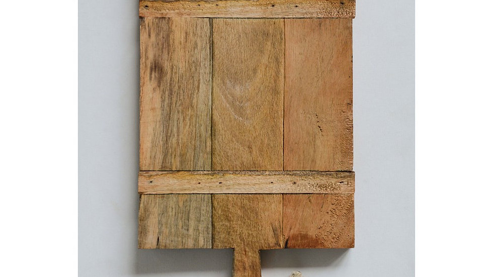 "18""L x 10""W Mango Wood Cheese Board w/ Rope"