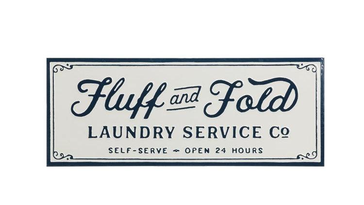 Fluff & Fold Laundry Sign