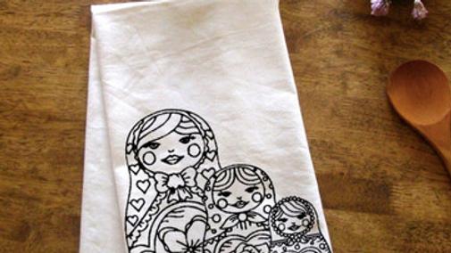 Nesting Dolls Kitchen Towel