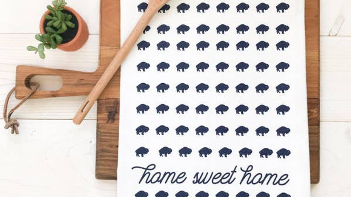 Buffalo Home Sweet Home Tea Towel