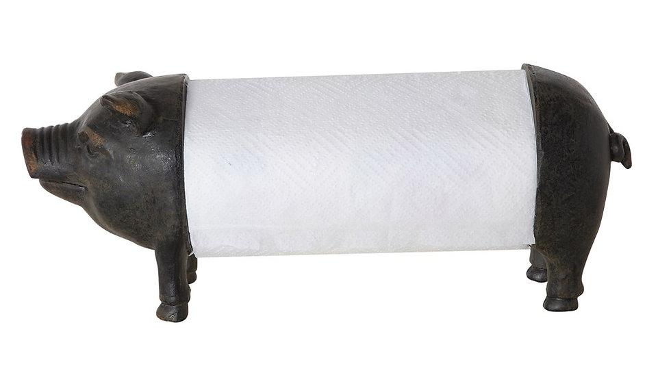Resin Pig Paper Towel Holder