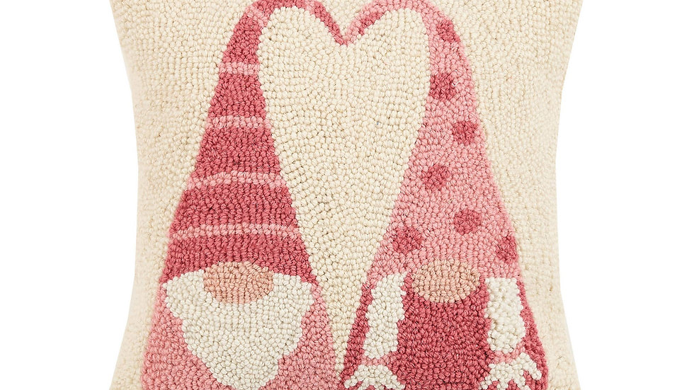 Gnomes In Love Hook Pillow With Insert