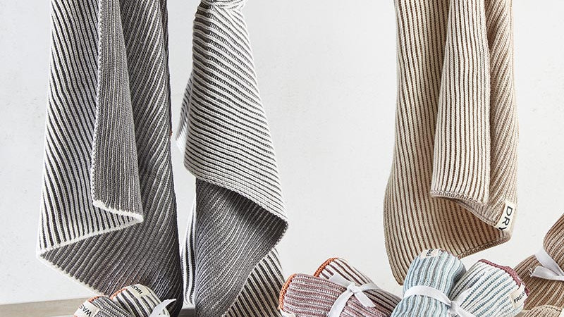 Dish Towel - Set of 2 - Grey Or Natural