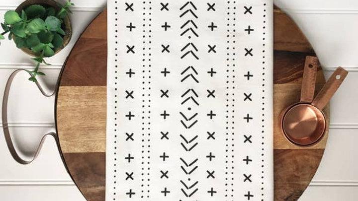 Mud Cloth Style Tea Towel