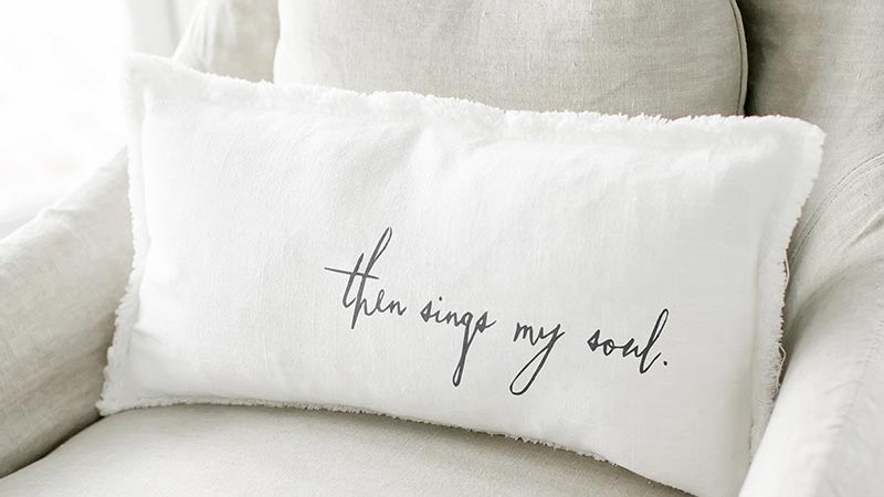 Lumbar Pillow - Then Sings My Soul - With Duck Feather Insert