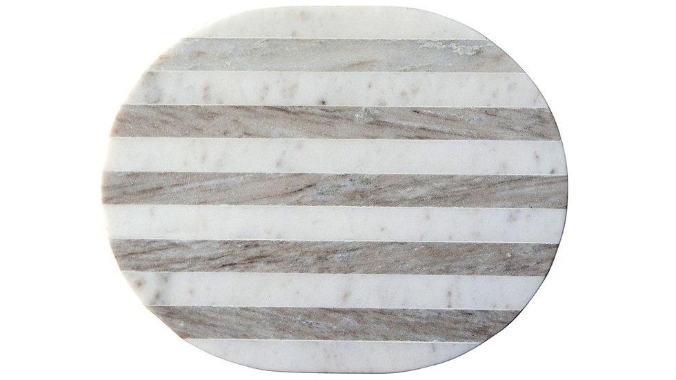 Marble Cheese/Cutting Board, Grey & White Stripe
