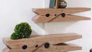 Clothespin Shelfs Set of 2