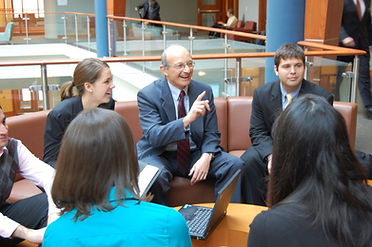 Photo of Bill with students.jpg