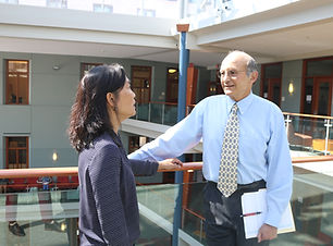 Photo of Bill Novelli and Diane Ty at the McDonough School of Business