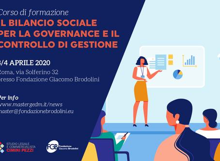 Corso: il Bilancio Sociale per la governance e il controllo di gestione.