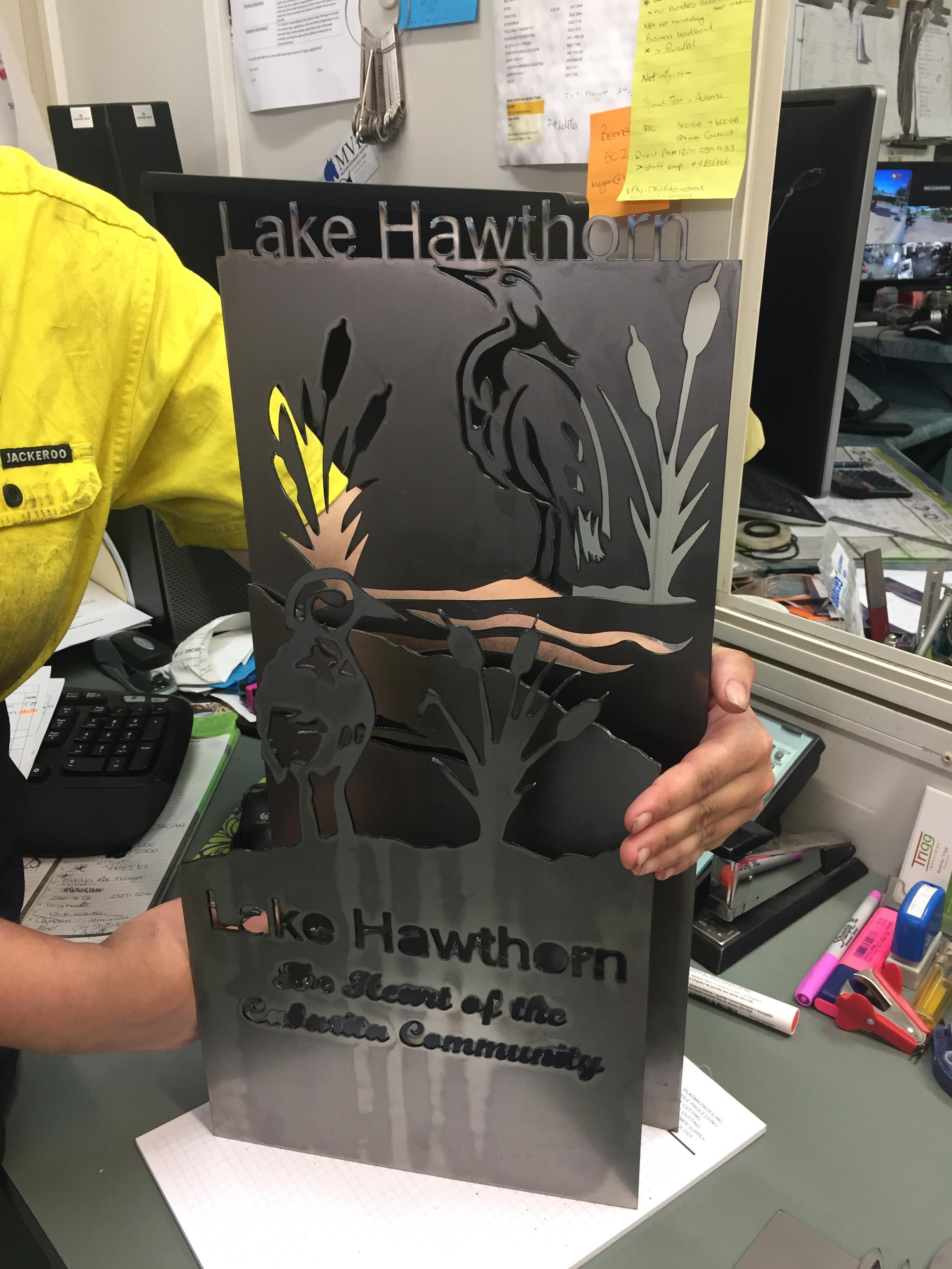 Lake Hawthorn Signs