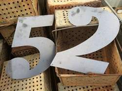 Laser Cut Property Numbers