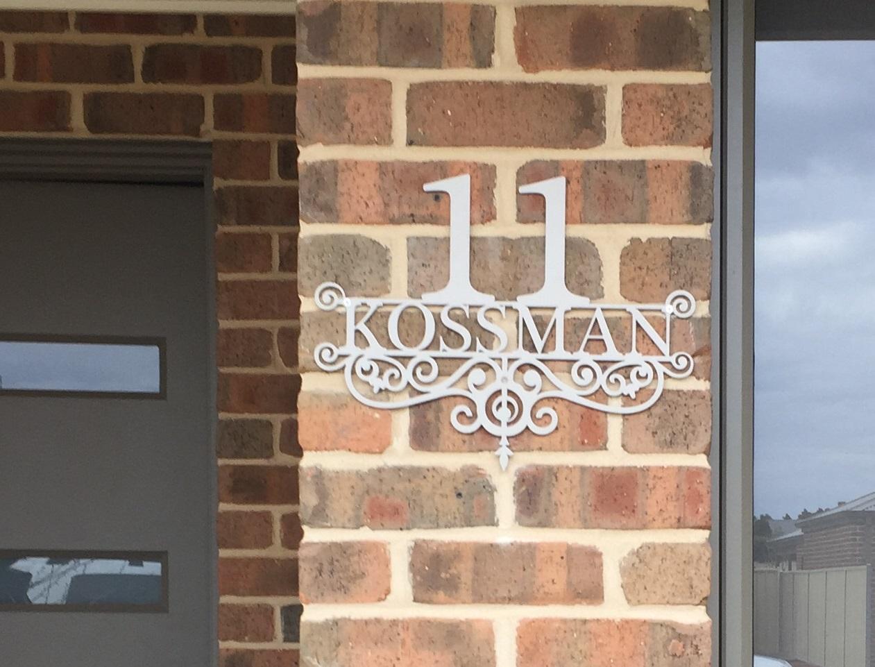 11 Kossman House Number Decorative