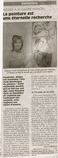 article alegra(journal havre)