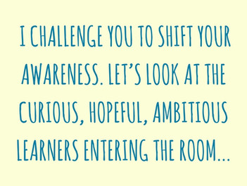 Shifting Our Lens: Focusing Attention on What's in Place (Students)