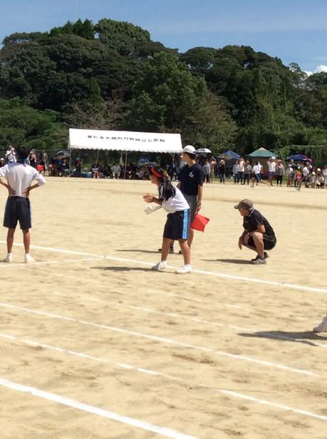 大隅中、松山中の体育大会に行ってきました。