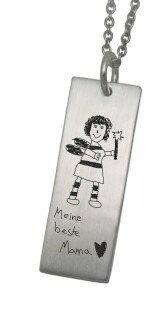 Kinderzeichnungen auf Schmuck