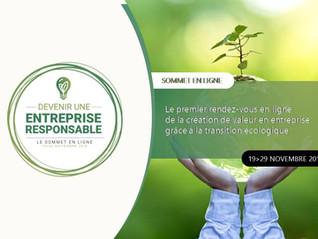 [ Sommet en ligne ] : Devenir une entreprise responsable