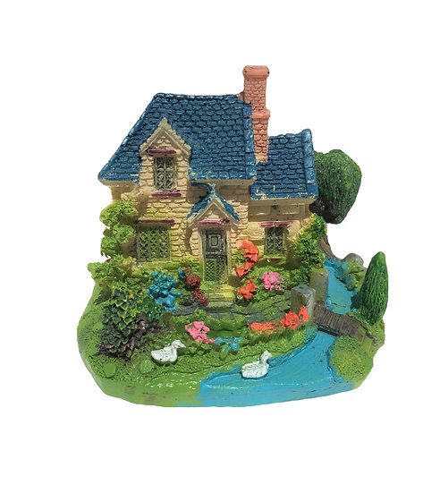 Small House With Blue Roof (9.5cm)