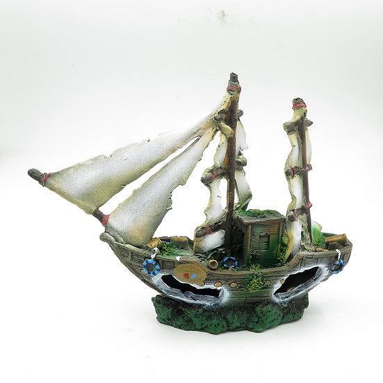 Midsize Shipwreck with Sails (31cm)