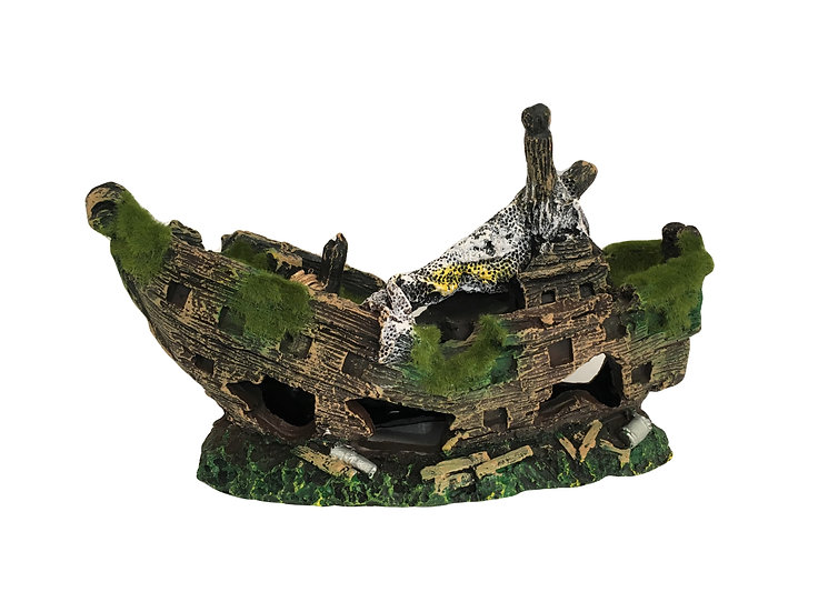 Moss Covered Shipwreck (25cm) - 3139