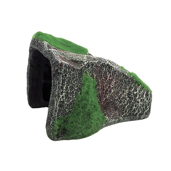 Large Rock Cave With Moss (22cm)