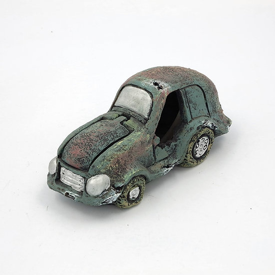 Air Driven Car Wreck with Moving Hood (16cm)