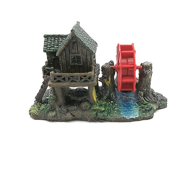 Air Driven Water Wheel with Hut (9.5cm)