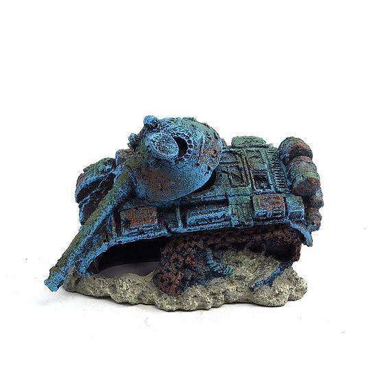 Army Tank Aquarium Ornament (16cm)