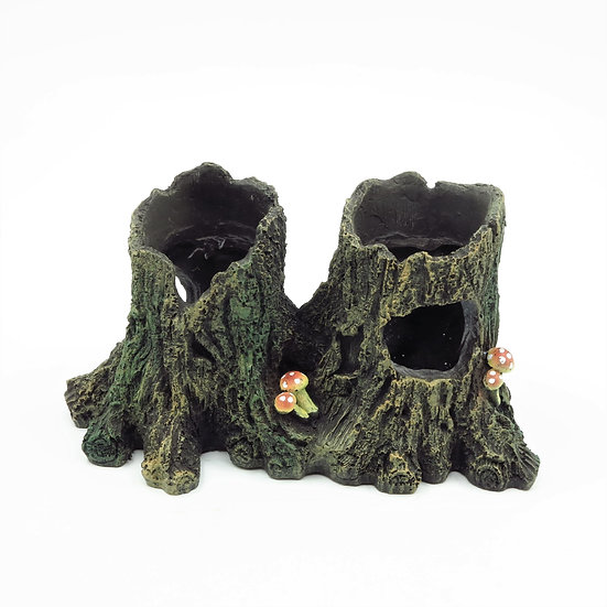 Twin Tree Stumps (20cm)