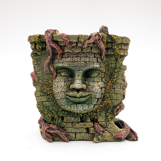 Mayan Buddhist Face Temple Ruins (18cm)