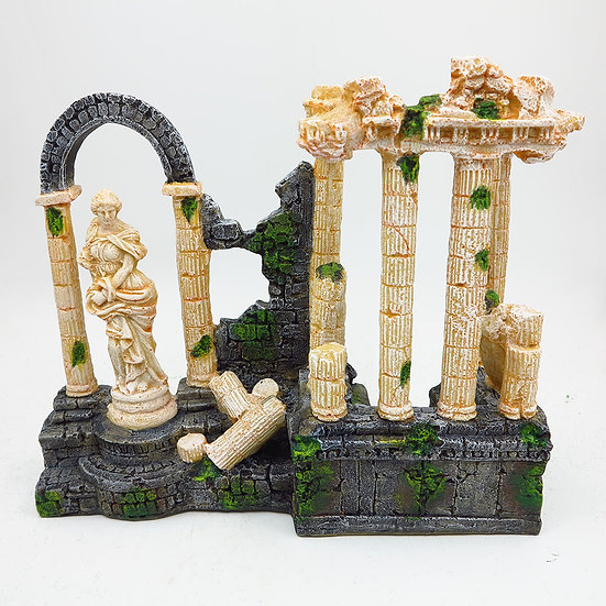 Roman Ruins Sculpture with Columns (35cm)