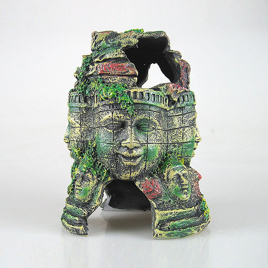 Mayan Buddhist Face Temple Monument Ruins (20cm)