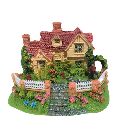 Small House With Pink Roof (12.5cm)