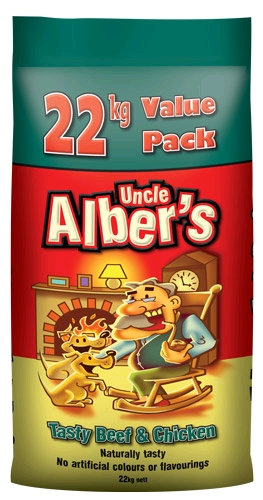Uncle Alber's Tasty Beef and Chicken 22kg