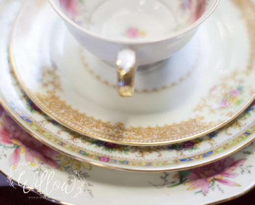 Mix-and-match vintage dishes