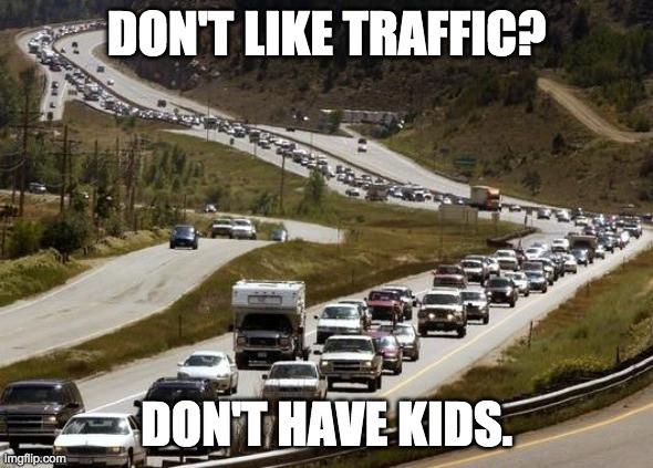 Denver Yimby - Overpopulation Meme: Don't like traffic? Don't have kids.