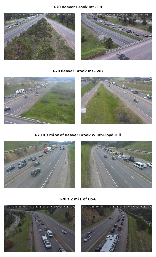 I-70 Traffic on a Friday afternoon on May 28, 2021