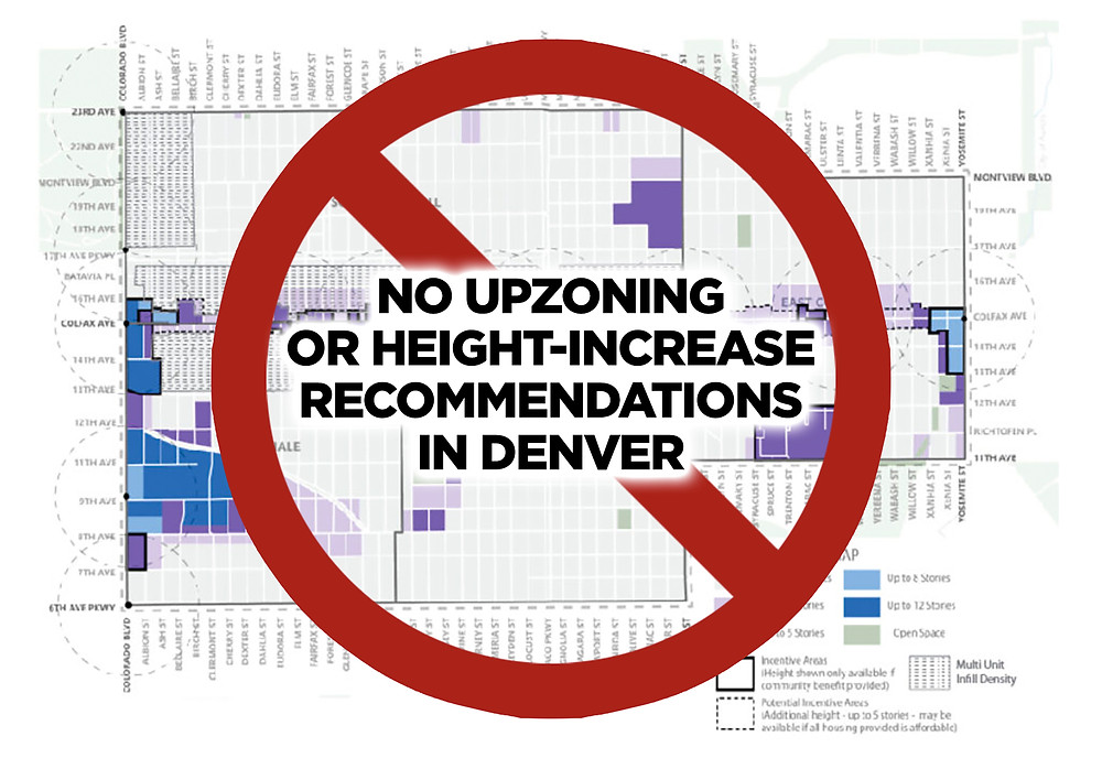 No Upzoning or Height-Increase Recommendations in Denver - East Area Plan