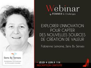 Webinar, explorer l'innovation pour capter des nouvelles sources de création de valeur