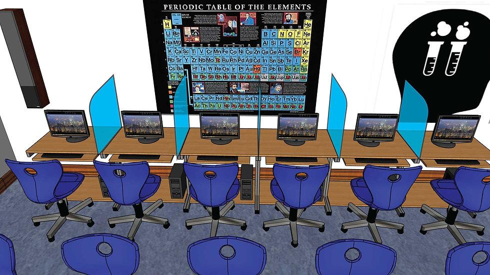 SaniGuard Desk and Computer Lab Dividers