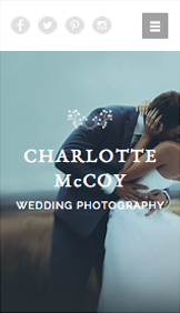 Photography website templates – Wedding Photography