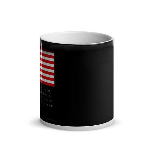 Ben Franklin Quote Glossy Magic Mug