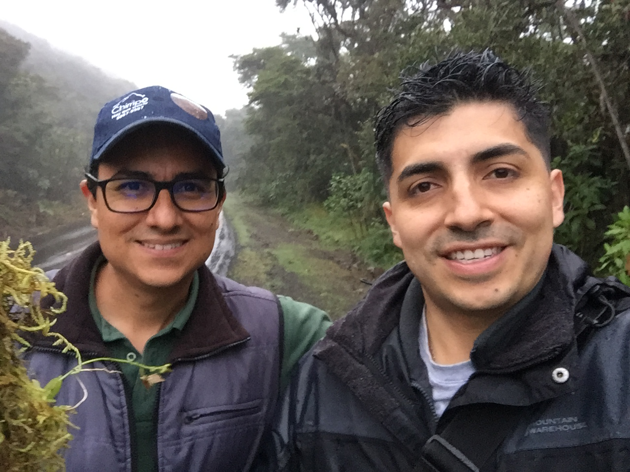 With Diego Bogarín in El Cerro de la Muerte (Costa Rica) collecting orchids! - December 2019