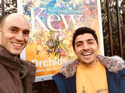 With Alexandre Antonelli at the Elizabeth gate, Royal Botanic Gardens Kew - January 2019