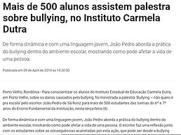 Palestra bullying carmela dutra rondonia