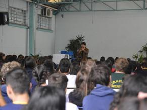Visita ao colégio Felipe Camarão em São Sebastião do Caí - RS.