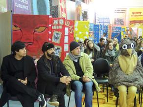 Palestra e adoção literária no Colégio Colbachini em Nova Bassano-RS
