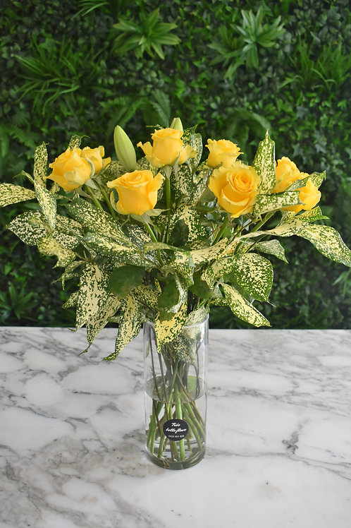 Classic Rose and Foliage Bouquet