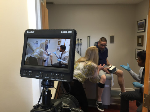 Quell filming at medical office